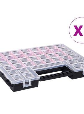vidaXL Assortimentsdozen 5 st met verdelers 385x283x50 mm kunststof
