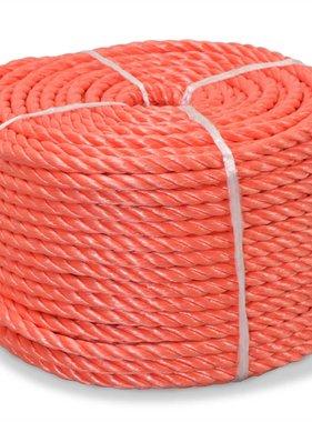 vidaXL Touw gedraaid 10 mm 500 m polypropyleen oranje