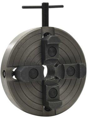 vidaXL Houtklauwplaat 4 bekken M33 verbinding 150x63 mm staal zwart