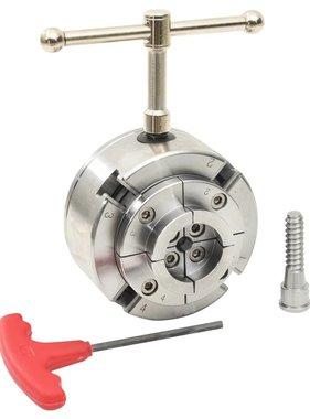vidaXL Houtklauwplaat 4 bekken M33 verbinding 96 mm staal zilverkleur