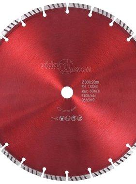 vidaXL Diamantzaagblad met turbo 300 mm staal