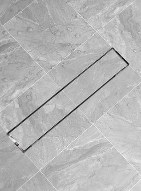 vidaXL Doucheputje rechthoekig 630x140 mm roestvrij staal