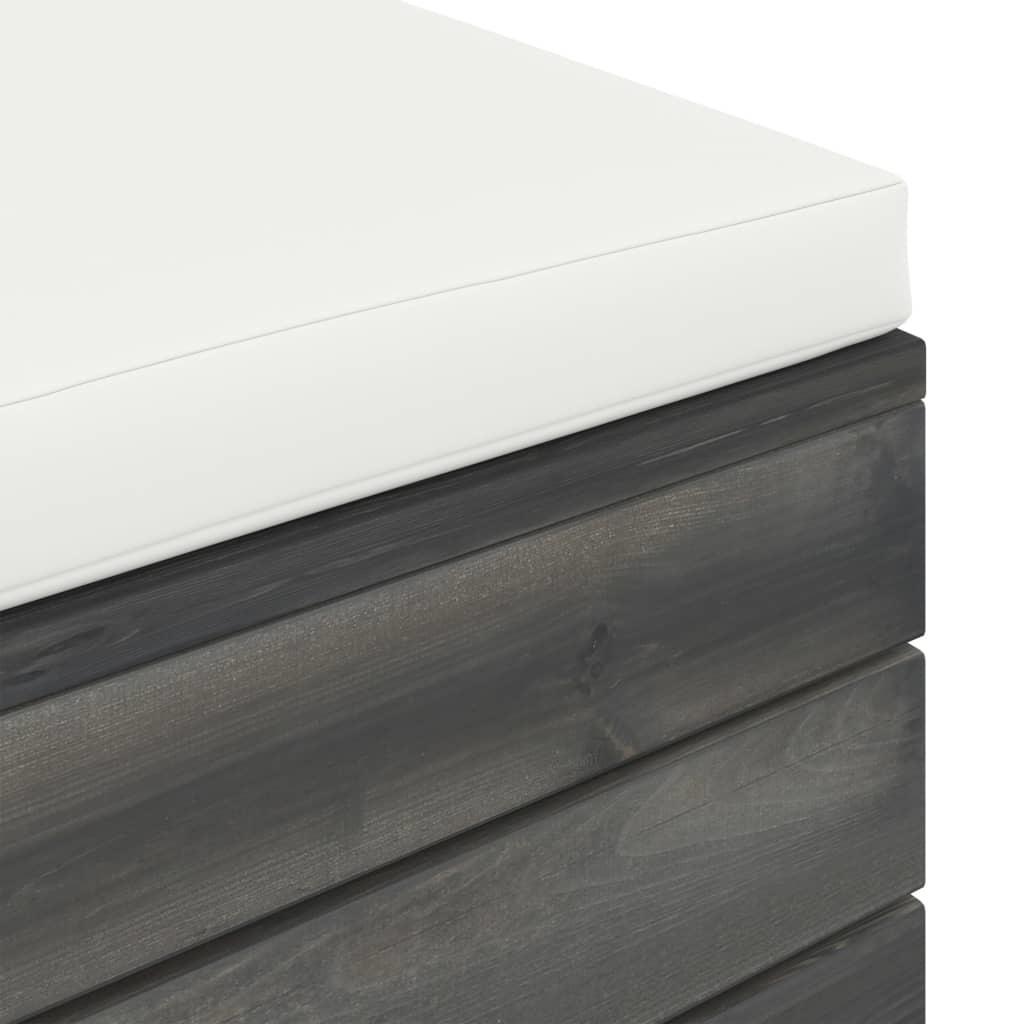 vidaXL 10-delige Loungeset met kussens pallet massief grenenhout