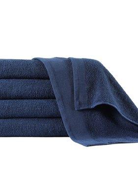 vidaXL Douchehanddoeken 5 st 450 g/m² 70x140 cm katoen marineblauw