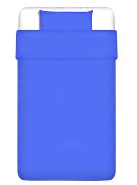 vidaXL Dekbedovertrek tweedelig katoen blauw 135 x 200/80 x 80 cm