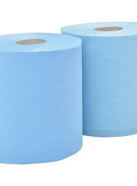 vidaXL Keukenrol industrieel 2-laags 2 rollen 20 cm blauw