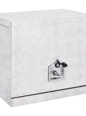 vidaXL Kist 62x40x50 cm aluminium zilverkleurig