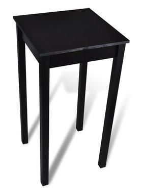 vidaXL Bartafel 55x55x107 cm MDF zwart