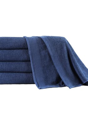 vidaXL 5-delige Badhanddoekenset 450 g/m² 100x150cm katoen marineblauw