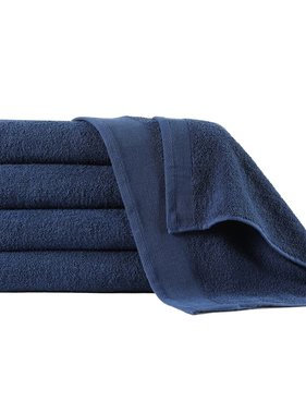 vidaXL Handdoeken 5 st 450 g/m² 50x100 cm katoen marineblauw