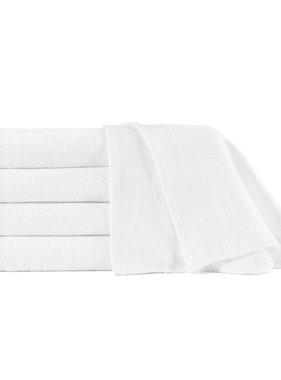 vidaXL Saunahanddoeken 5 st 450 g/m² 80x200 cm katoen wit