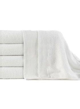 vidaXL 5-delige Badhanddoekenset 450 g/m² 100x150 cm katoen wit