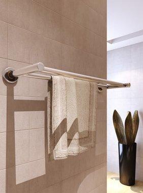 vidaXL Handdoekenrek met 2 roedes roestvrij staal