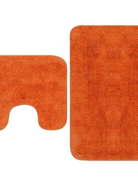 vidaXL Badmattenset stof oranje 2-delig