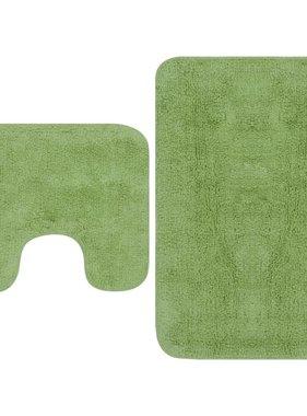 vidaXL Badmattenset stof groen 2-delig
