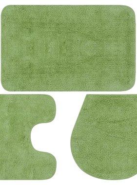 vidaXL Badmattenset stof groen 3-delig