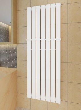 vidaXL Enkele verwarmingsradiator wit 542 mm x 1500 mm plus handdoekrek