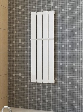 vidaXL Enkele verwarmingsradiator wit 311 mm x 900 mm plus handdoekrek