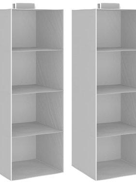 vidaXL Kledingorganisers hangend 2 st met 4 schappen stof