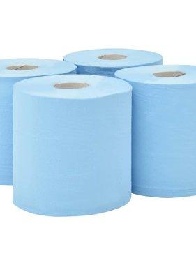 vidaXL Keukenrol industrieel 2-laags 4 rollen 20 cm blauw