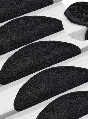 vidaXL 15 st Trapmatten 65x25 cm zwart