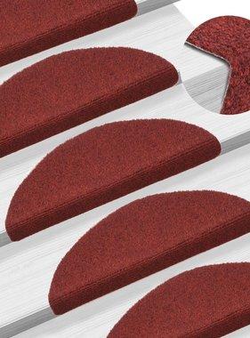 vidaXL Trapmatten zelfklevend 54x16x4 cm naaldvilt rood 15 st