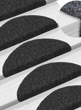 vidaXL Trapmatten zelfklevend 54x16x4 cm naaldvilt zwart 15 st