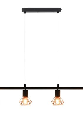 vidaXL Plafondlamp met filament peren 4 W E14 80 cm zwart en koper
