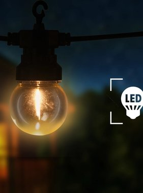 vidaXL Festoenlampen 20 st rond tuinkerstversiering 23 m