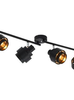 vidaXL Spotlight viervoudig E14 zwart