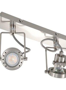 vidaXL Spotlight tweevoudig GU10 zilverkleurig