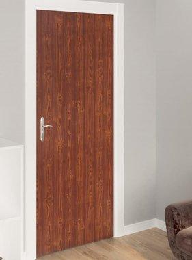 vidaXL Deurfolies zelfklevend 2 st 210x90 cm PVC acaciakleurig