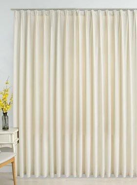 vidaXL Gordijn verduisterend met haken 290x245 cm fluweel crème