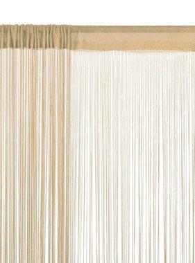 vidaXL Draadgordijnen 140x250 cm beige 2 st