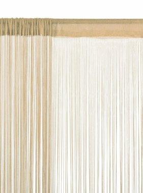 vidaXL Draadgordijnen 100x250 cm beige 2 st