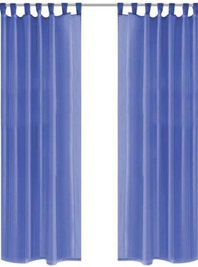 vidaXL Gordijnen voile 140x175 cm koningsblauw