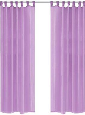 vidaXL Gordijnen voile 140x175 cm lila 2 st