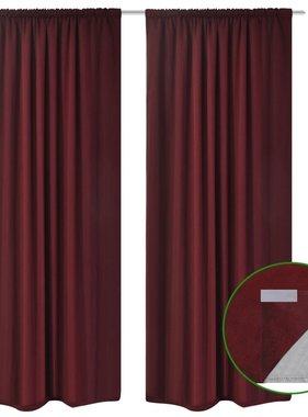 vidaXL Gordijnen verduisterend dubbellaags 140x175 cm bordeaux 2 st