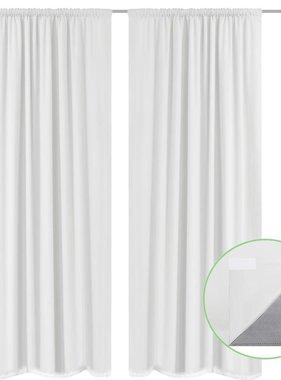 vidaXL Gordijnen verduisterend dubbellaags 140x175 cm wit 2 st