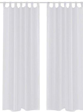 vidaXL Gordijn Wit 140x175 cm (2 stuks)