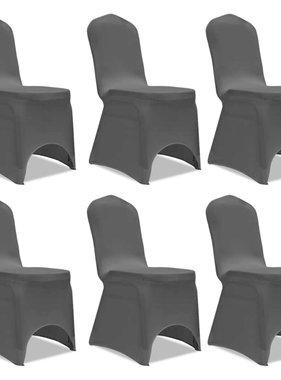 vidaXL Stoelhoes Stretch Zwart (6 stuks)