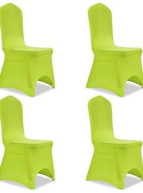 vidaXL Stoelhoes stretch 4 stuks groen