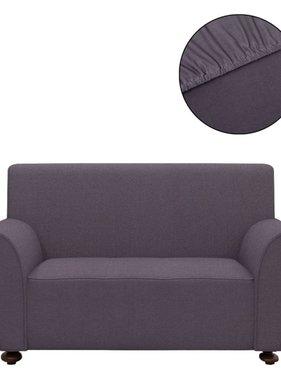 vidaXL Stretch meubelhoes voor bank antraciet polyester jersey