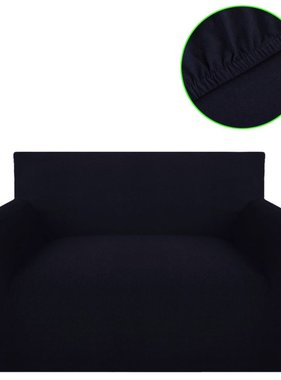 vidaXL bankhoes stretch zwart katoen jersey