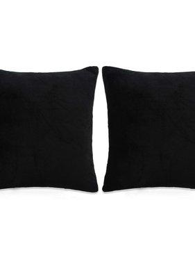 vidaXL Sierkussenset 60x60 cm velours zwart 2-delig