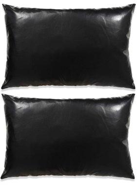vidaXL Sierkussenset 40x60 cm PU zwart 2-delig