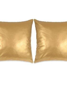 vidaXL Sierkussenset 60x60 cm PU goud 2-delig