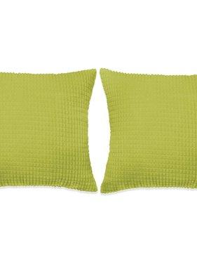vidaXL Sierkussenset 60x60 cm velours groen 2-delig