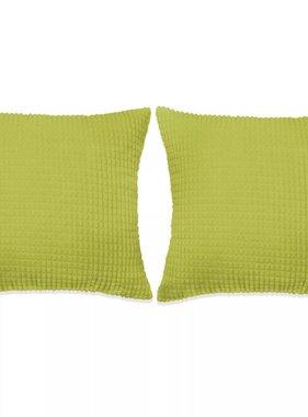 vidaXL Sierkussenset 45x45 cm velours groen 2-delig