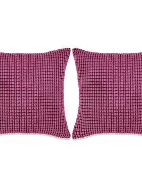 vidaXL Sierkussenset 60x60 cm velours roze 2-delig